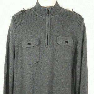 Apt 9 1/4 Zip Pullover Sweater Military Size XL